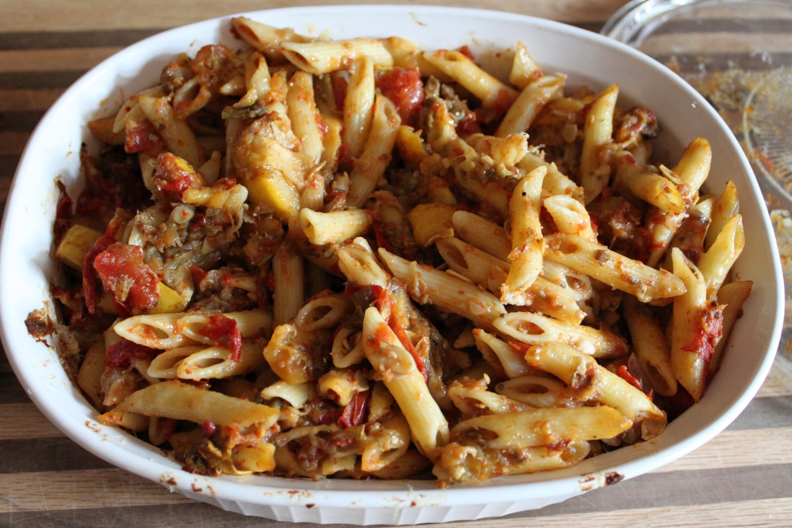 ... baked pasta in eggplant crust pasta baked w eggplant with eggplant and