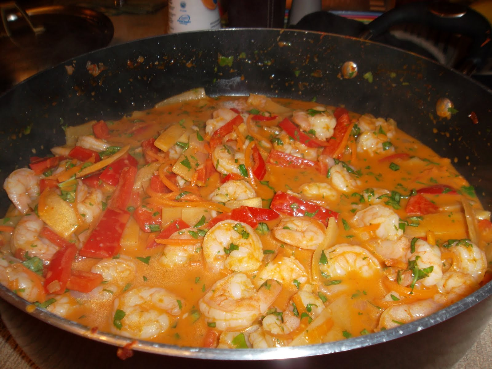 chopped thai shrimp halibut curry thai coconut shrimp with the curry ...